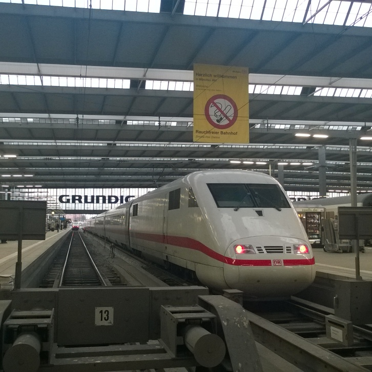 My favorite mode of travel - at Munich Main Station back from Radolfzell via Ulm