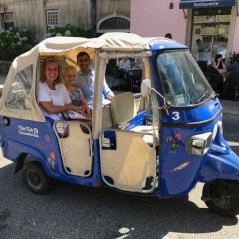 Tuk Tuk ride to the Palace of Pena from the National Palace - Lily loved it!!