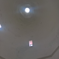 Kitchen view of roof /chimney
